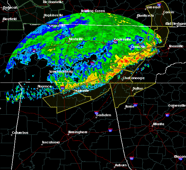 Radar Image for Severe Thunderstorms near Section, AL at 6/21/2019 10:09 PM CDT