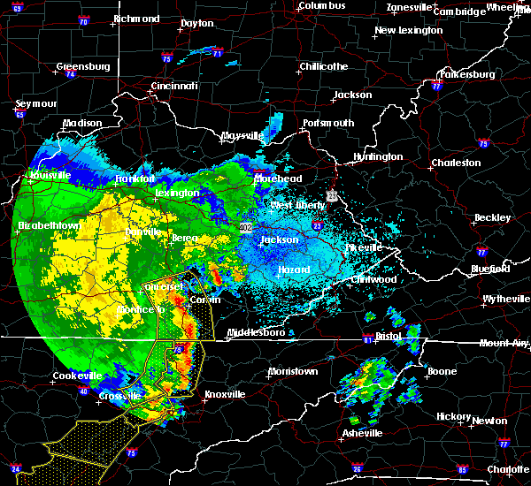 Radar Image for Severe Thunderstorms near London, KY at 6/21/2019 11:11 PM EDT