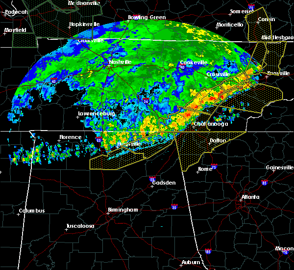 Radar Image for Severe Thunderstorms near Section, AL at 6/21/2019 10:22 PM CDT