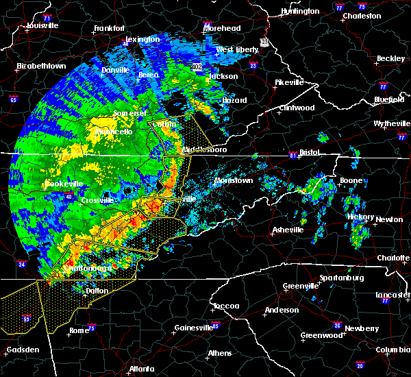 Radar Image for Severe Thunderstorms near Knoxville, TN at 6/21/2019 11:35 PM EDT