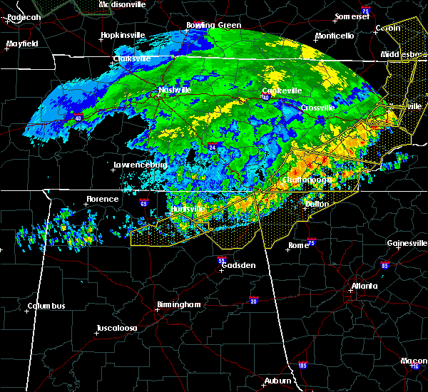 Radar Image for Severe Thunderstorms near Section, AL at 6/21/2019 10:42 PM CDT