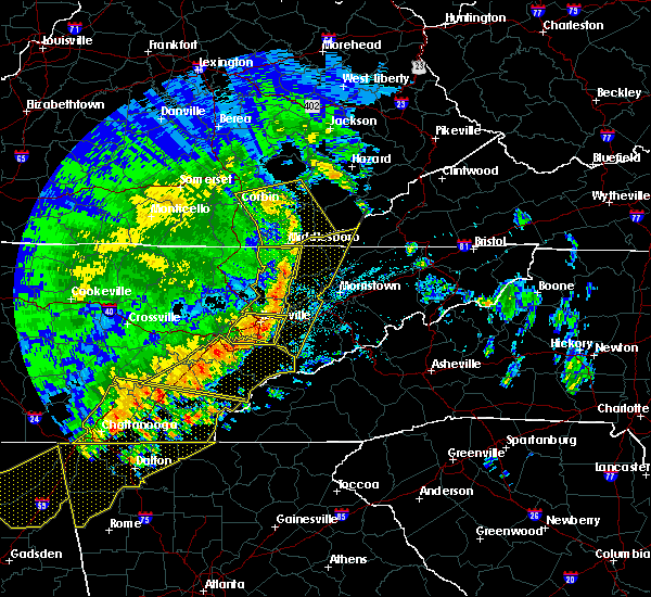 Radar Image for Severe Thunderstorms near Middlesborough, KY at 6/21/2019 11:43 PM EDT