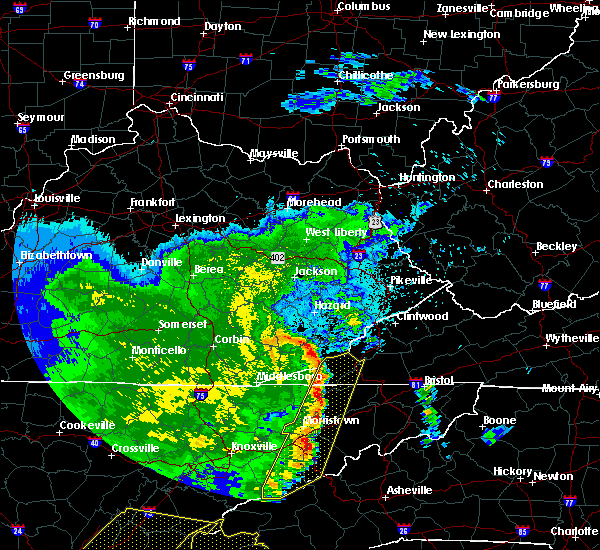 Radar Image for Severe Thunderstorms near Coldiron, KY at 6/22/2019 12:24 AM EDT