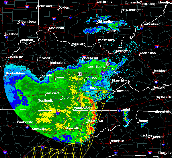 Radar Image for Severe Thunderstorms near Coldiron, KY at 6/22/2019 12:28 AM EDT