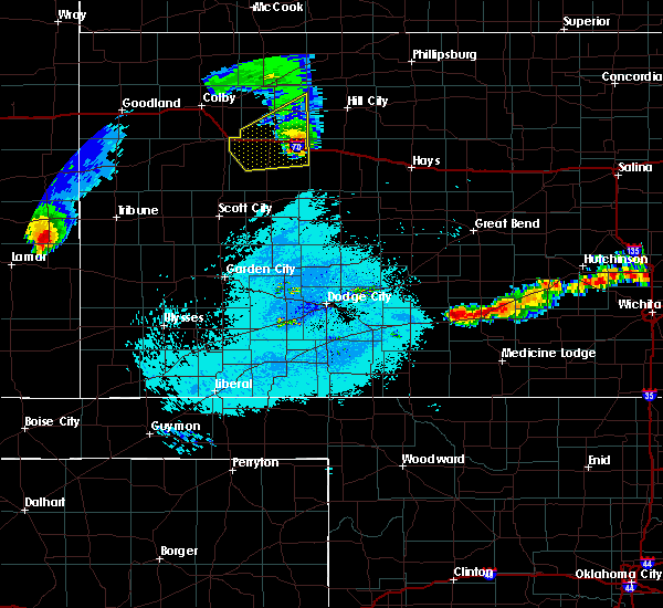 Radar Image for Severe Thunderstorms near Greensburg, KS at 6/21/2019 11:29 PM CDT