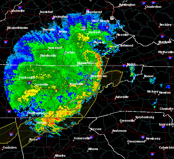 Radar Image for Severe Thunderstorms near Newport, TN at 6/22/2019 12:34 AM EDT