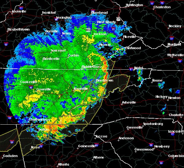 Radar Image for Severe Thunderstorms near Parrottsville, TN at 6/22/2019 12:34 AM EDT
