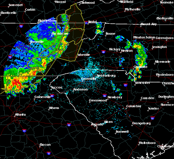 Radar Image for Severe Thunderstorms near Waynesville, NC at 6/22/2019 12:42 AM EDT