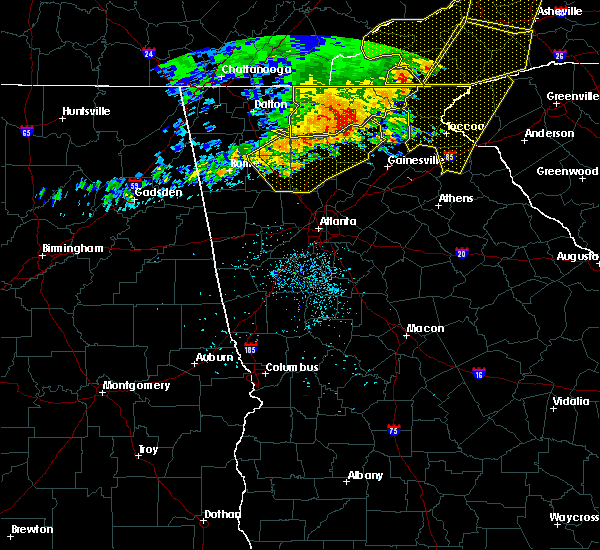 Radar Image for Severe Thunderstorms near Calhoun, GA at 6/22/2019 12:52 AM EDT