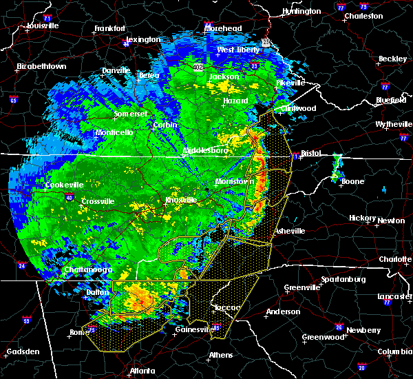 Radar Image for Severe Thunderstorms near Franklin, NC at 6/22/2019 12:58 AM EDT