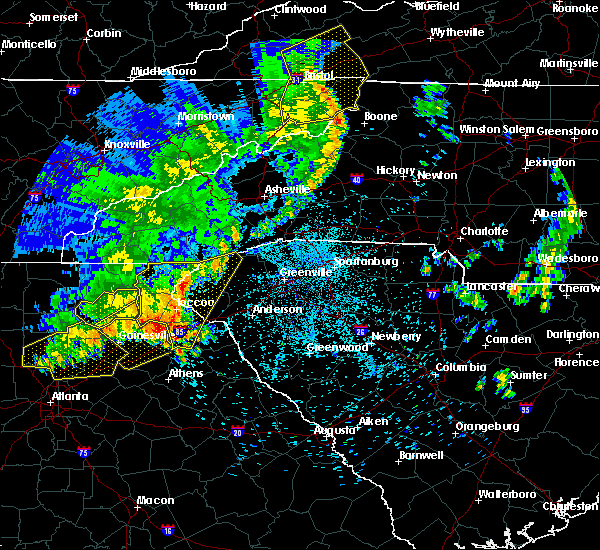 Radar Image for Severe Thunderstorms near Westminster, SC at 6/22/2019 1:44 AM EDT