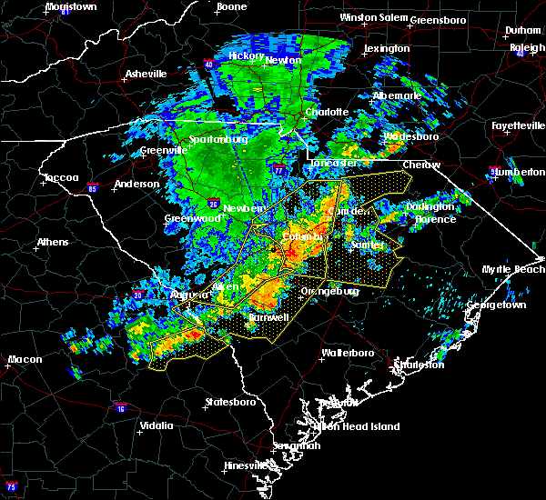 Radar Image for Severe Thunderstorms near Cameron, SC at 6/22/2019 4:40 AM EDT