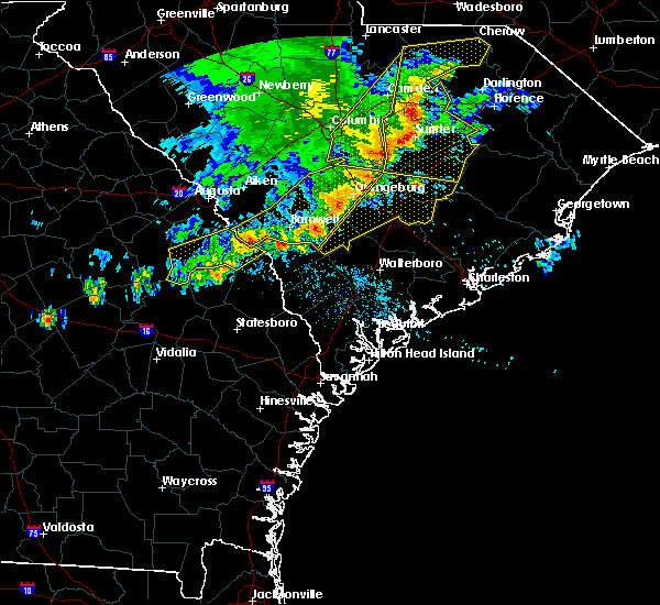 Radar Image for Severe Thunderstorms near Allendale, SC at 6/22/2019 4:54 AM EDT