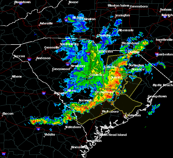 Radar Image for Severe Thunderstorms near Oswego, SC at 6/22/2019 5:16 AM EDT