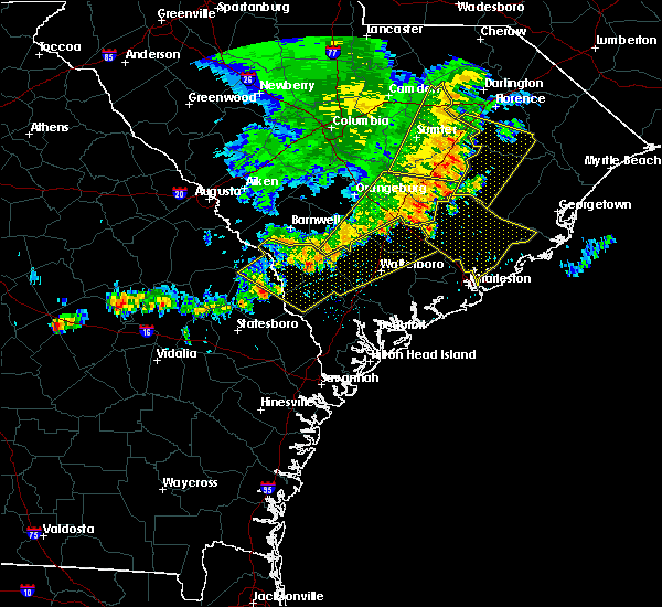 Radar Image for Severe Thunderstorms near Bowman, SC at 6/22/2019 5:23 AM EDT