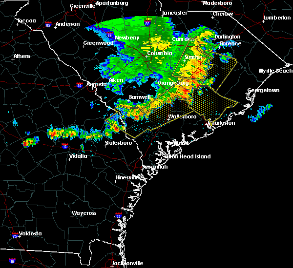 Radar Image for Severe Thunderstorms near Allendale, SC at 6/22/2019 5:24 AM EDT