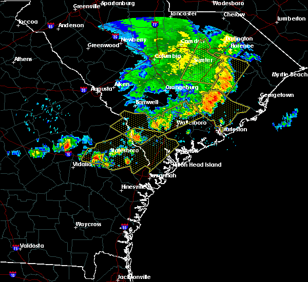Radar Image for Severe Thunderstorms near Yemassee, SC at 6/22/2019 5:43 AM EDT