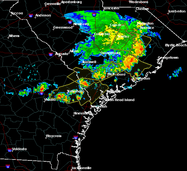 Radar Image for Severe Thunderstorms near Mount Pleasant, SC at 6/22/2019 5:47 AM EDT