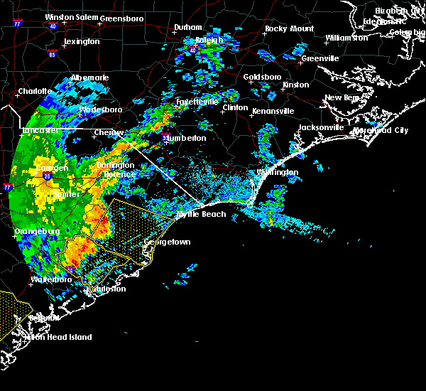 Radar Image for Severe Thunderstorms near Myrtle Beach, SC at 6/22/2019 5:47 AM EDT