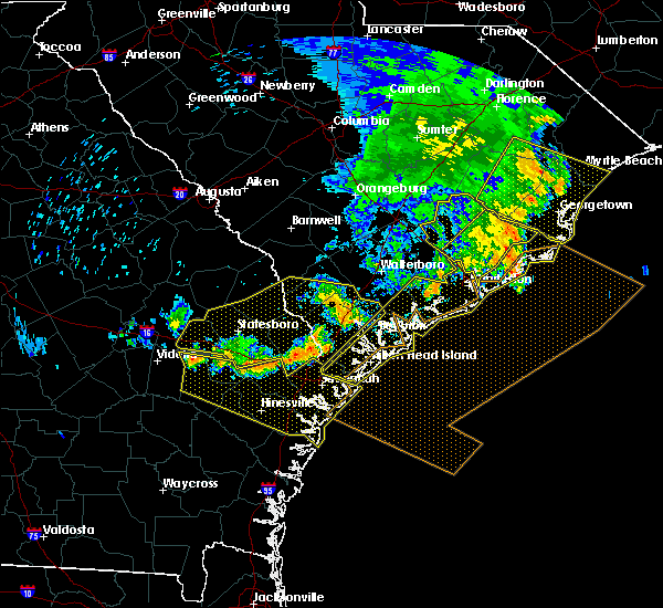 Radar Image for Severe Thunderstorms near Yemassee, SC at 6/22/2019 6:13 AM EDT