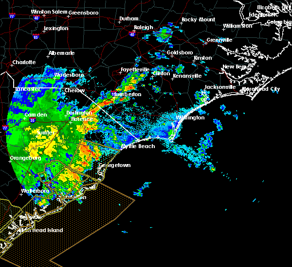 Radar Image for Severe Thunderstorms near Myrtle Beach, SC at 6/22/2019 6:17 AM EDT
