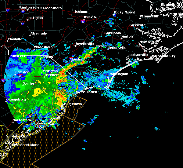 Radar Image for Severe Thunderstorms near Myrtle Beach, SC at 6/22/2019 6:26 AM EDT