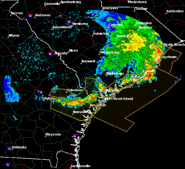 Radar Image for Severe Thunderstorms near Ravenel, SC at 6/22/2019 6:31 AM EDT