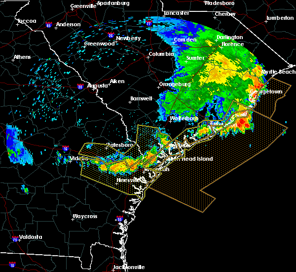 Radar Image for Severe Thunderstorms near Yemassee, SC at 6/22/2019 6:39 AM EDT