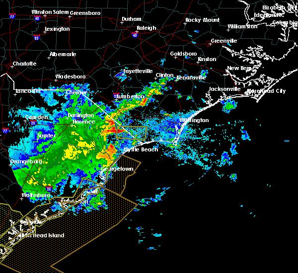 Radar Image for Severe Thunderstorms near Carolina Shores, NC at 6/22/2019 6:45 AM EDT
