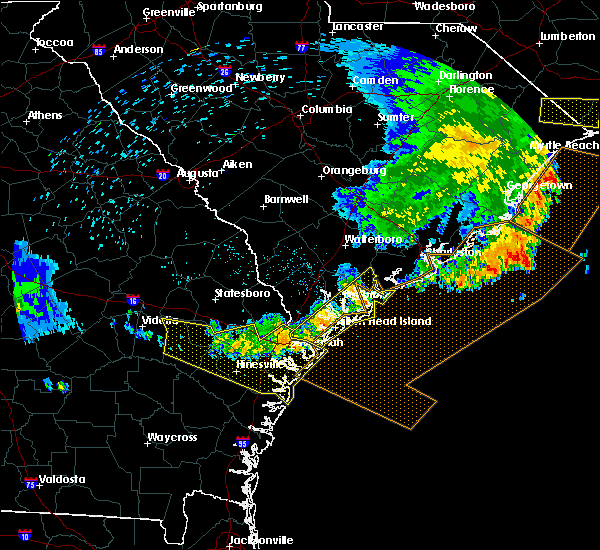 Radar Image for Severe Thunderstorms near Beaufort, SC at 6/22/2019 6:50 AM EDT