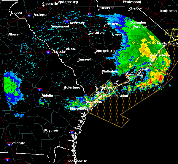 Radar Image for Severe Thunderstorms near Bluffton, SC at 6/22/2019 7:10 AM EDT