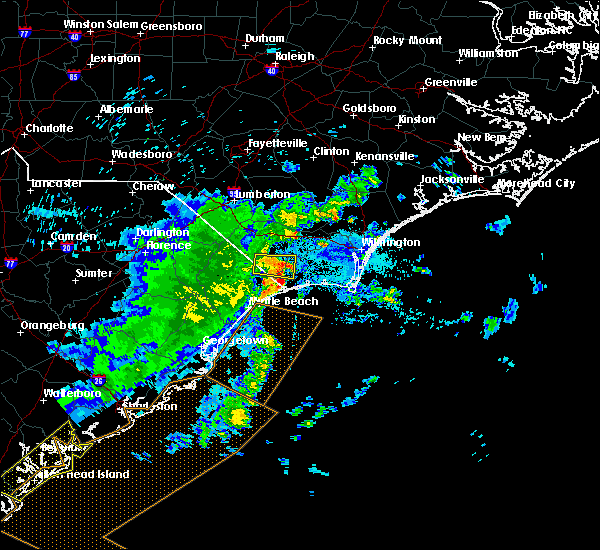 Radar Image for Severe Thunderstorms near Ocean Isle Beach, NC at 6/22/2019 7:11 AM EDT