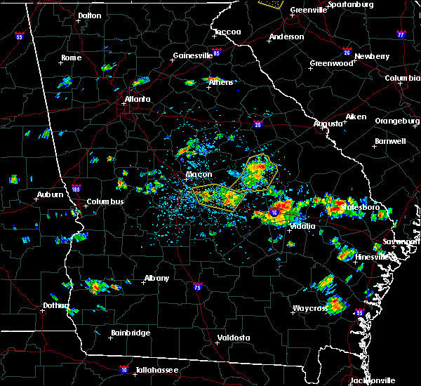 Radar Image for Severe Thunderstorms near Swainsboro, GA at 6/22/2019 2:53 PM EDT
