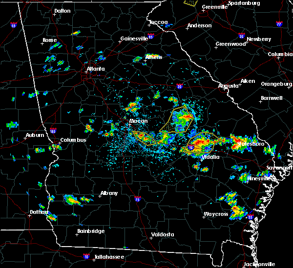 Radar Image for Severe Thunderstorms near Jeffersonville, GA at 6/22/2019 3:04 PM EDT