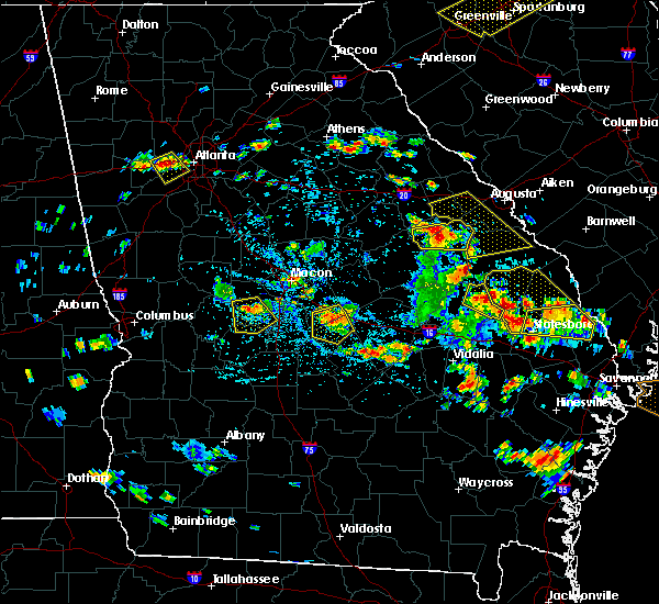 Radar Image for Severe Thunderstorms near Thomson, GA at 6/22/2019 3:42 PM EDT