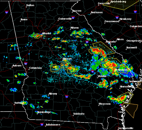 Radar Image for Severe Thunderstorms near Jeffersonville, GA at 6/22/2019 3:52 PM EDT