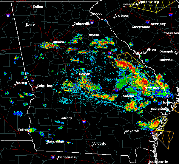 Radar Image for Severe Thunderstorms near Thomson, GA at 6/22/2019 4:00 PM EDT
