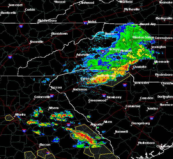 Radar Image for Severe Thunderstorms near Charlotte, NC at 6/22/2019 4:05 PM EDT