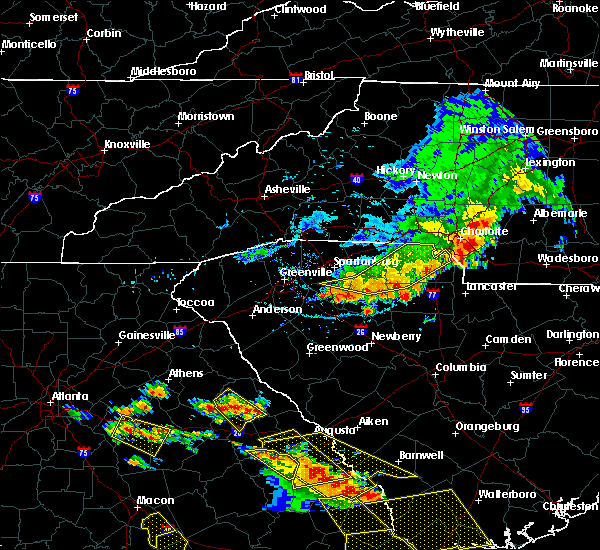 Radar Image for Severe Thunderstorms near Charlotte, NC at 6/22/2019 4:25 PM EDT
