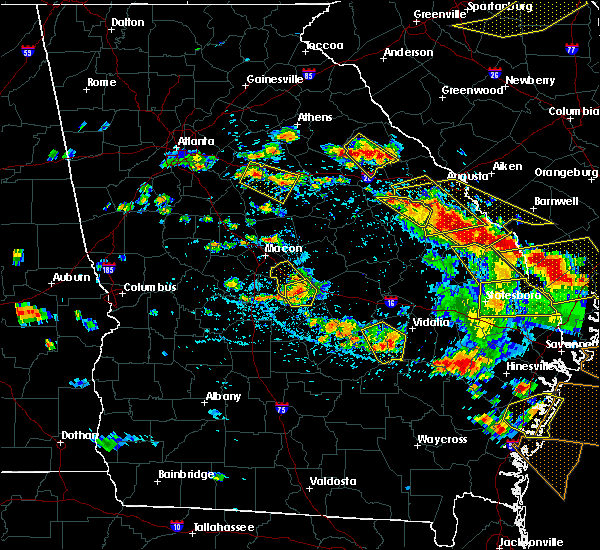 Radar Image for Severe Thunderstorms near Jeffersonville, GA at 6/22/2019 4:26 PM EDT