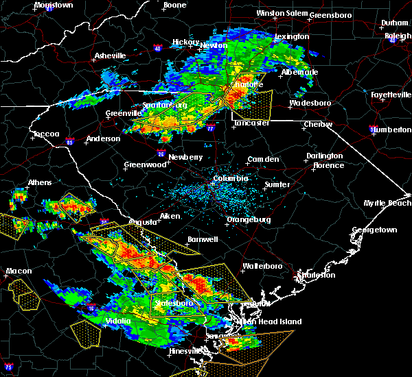 Radar Image for Severe Thunderstorms near Monroe, NC at 6/22/2019 4:29 PM EDT