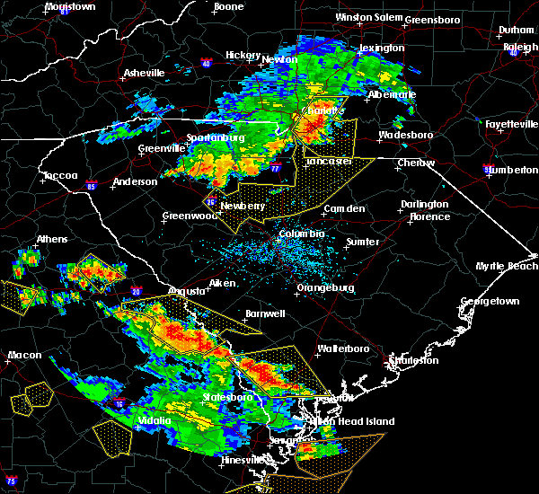 Radar Image for Severe Thunderstorms near Newberry, SC at 6/22/2019 4:35 PM EDT