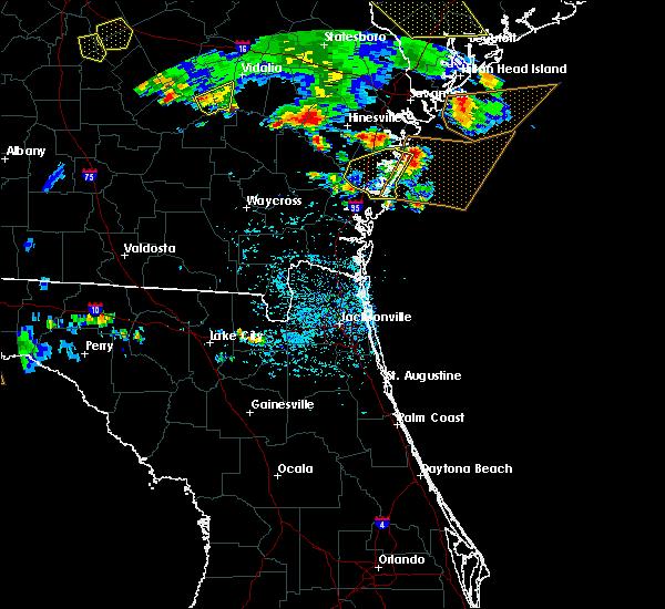Radar Image for Severe Thunderstorms near Darien, GA at 6/22/2019 4:42 PM EDT