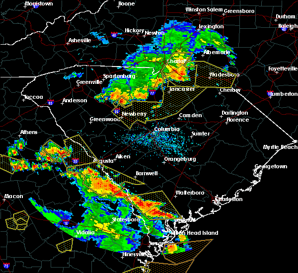 Radar Image for Severe Thunderstorms near Ansonville, NC at 6/22/2019 4:44 PM EDT