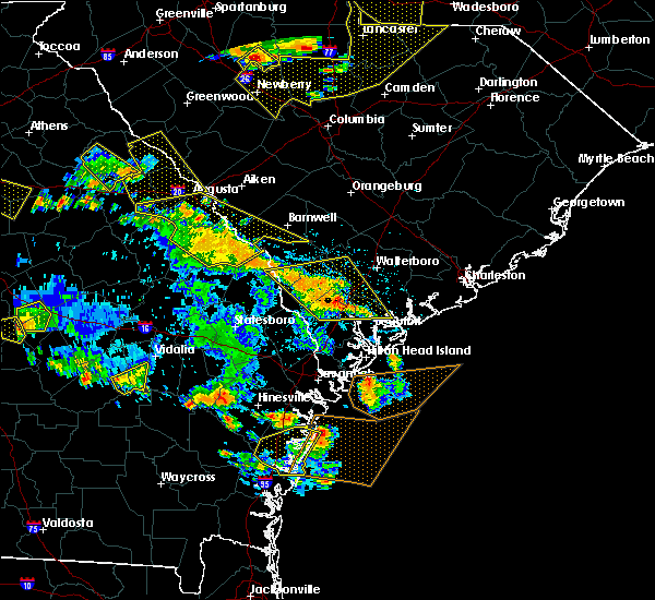 Radar Image for Severe Thunderstorms near Yemassee, SC at 6/22/2019 4:44 PM EDT