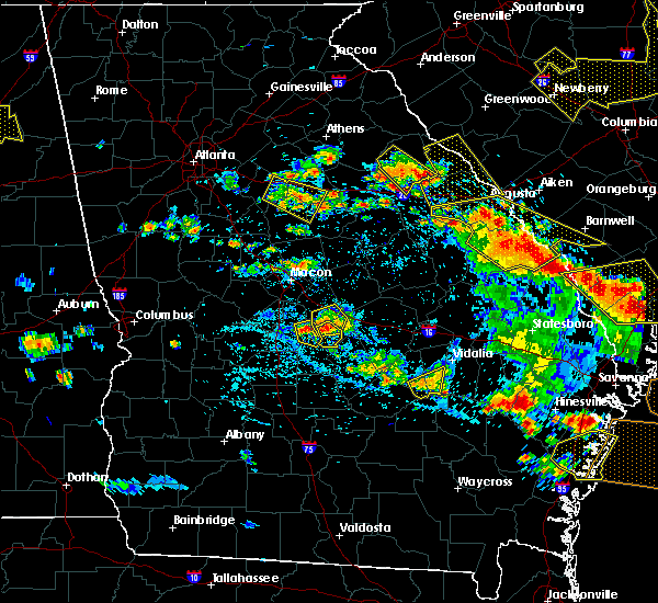 Radar Image for Severe Thunderstorms near Cochran, GA at 6/22/2019 4:45 PM EDT