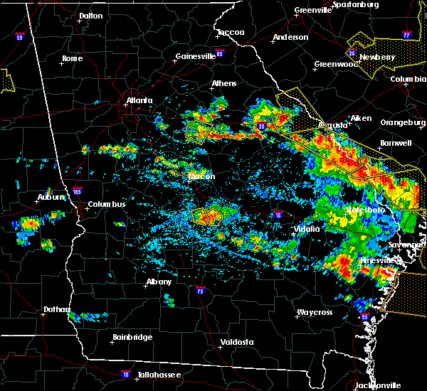 Radar Image for Severe Thunderstorms near Macon, GA at 6/22/2019 4:56 PM EDT