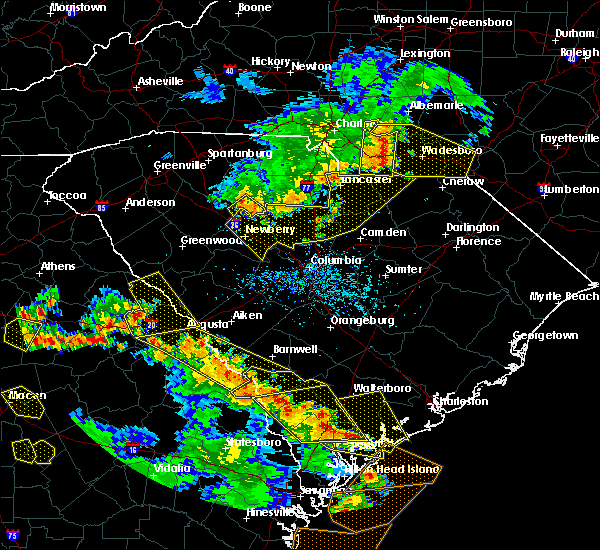 Radar Image for Severe Thunderstorms near Pageland, SC at 6/22/2019 4:56 PM EDT