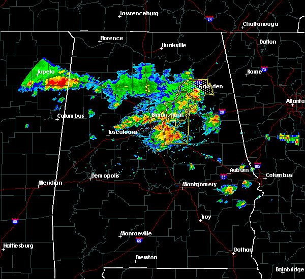 Radar Image for Severe Thunderstorms near Lincoln, AL at 6/22/2019 4:04 PM CDT