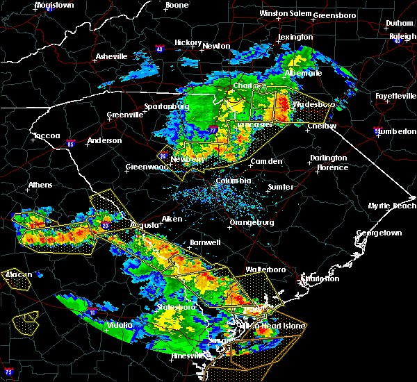 Radar Image for Severe Thunderstorms near Wingate, NC at 6/22/2019 5:11 PM EDT